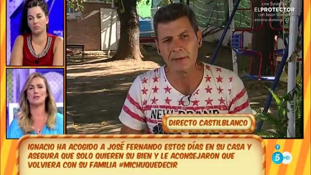 """Ignacio, amigo de J. Fernando: """"Es imposible que se rehabilite estando con Michu"""""""
