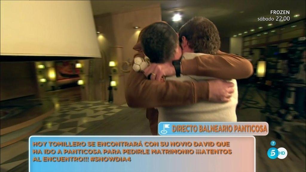 ¡Jesús Tomillero y su novio David se reencuentran en Panticosa!