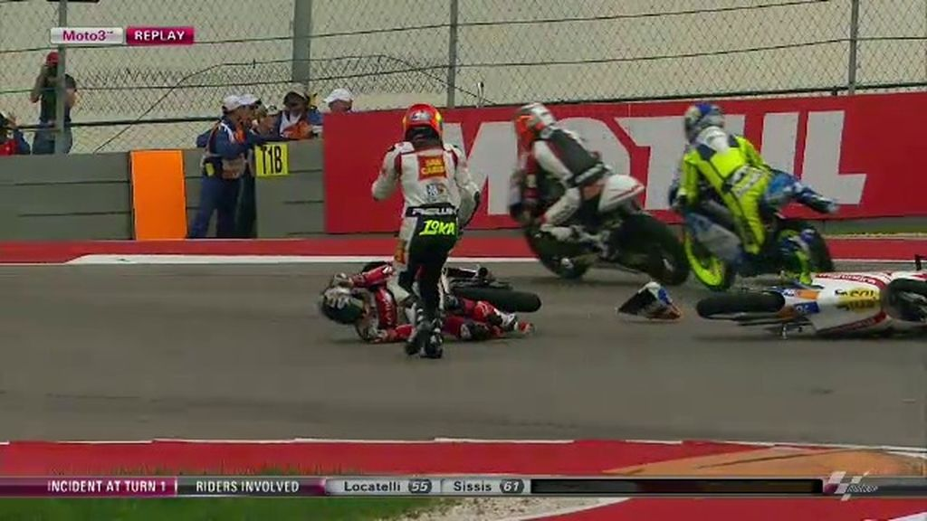 Así fue la carrera de Moto3 en Austin