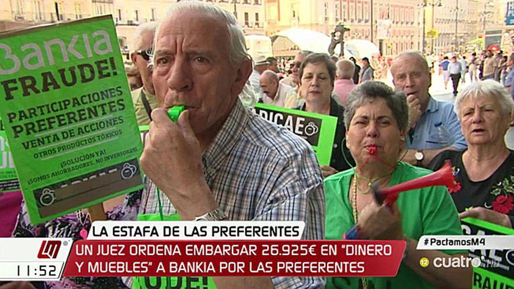 Embargada una oficina de Bankia por negarse a pagar a los preferentistas