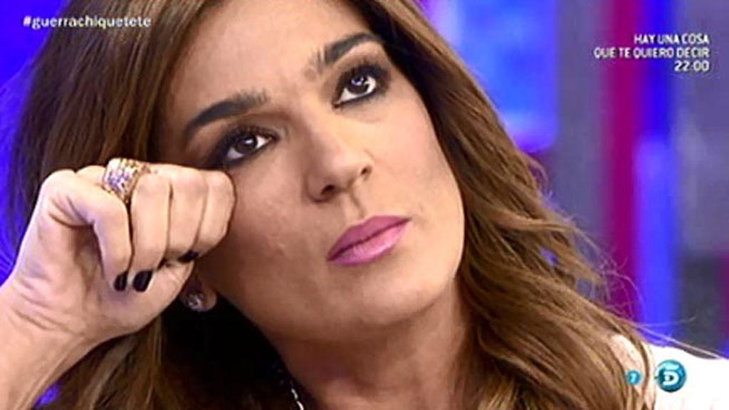 """Raquel Bollo, entre lágrimas: """"Chiquetete ha destrozado mi vida y mi alma"""""""
