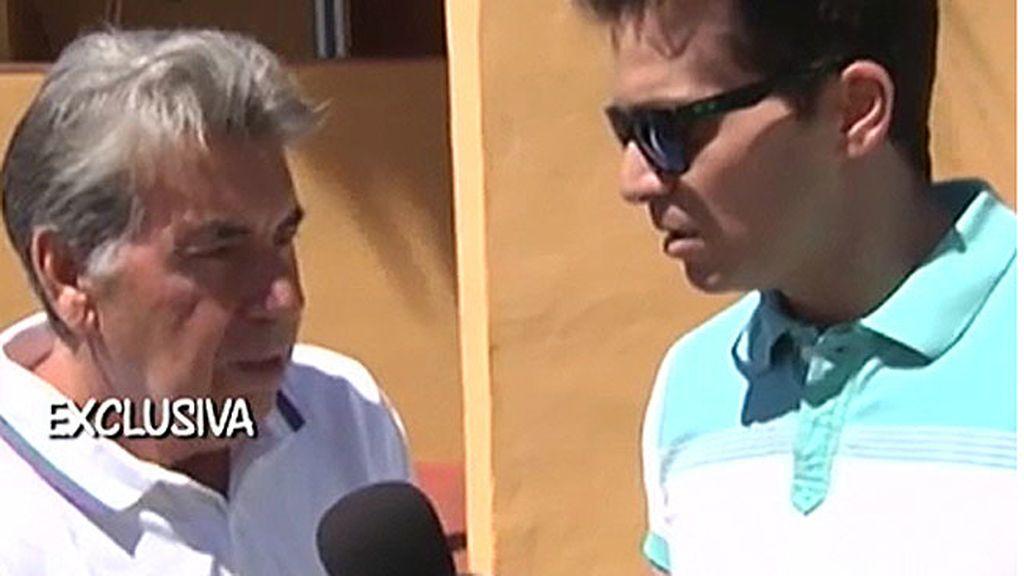 """Manolo Santana: """"Tengo trato con mis hijos"""""""