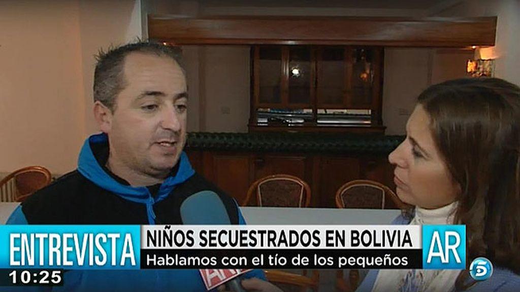 """Miguel, tío de los menores secuestrados: """"Vino a traer unos papeles y en Barcelona se dio cuenta de que había transportado droga"""""""
