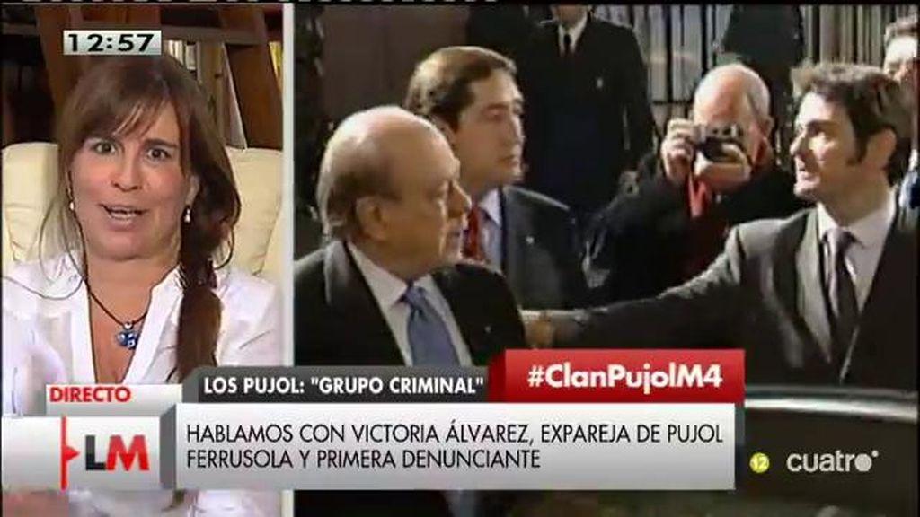 """Victoria Álvarez, expareja de Pujol Ferrusola: """"Bienvenidos sean los registros, pero llegan tres años tarde"""""""