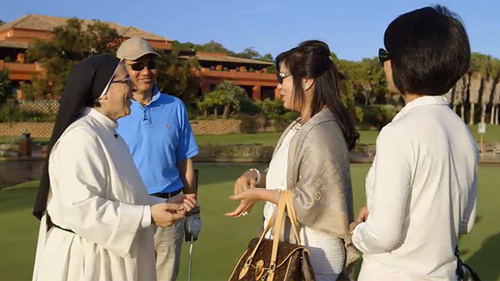 """Sor Lucía llega a un campo de golf: """"Empecé a pensar si no era yo un marciano"""""""