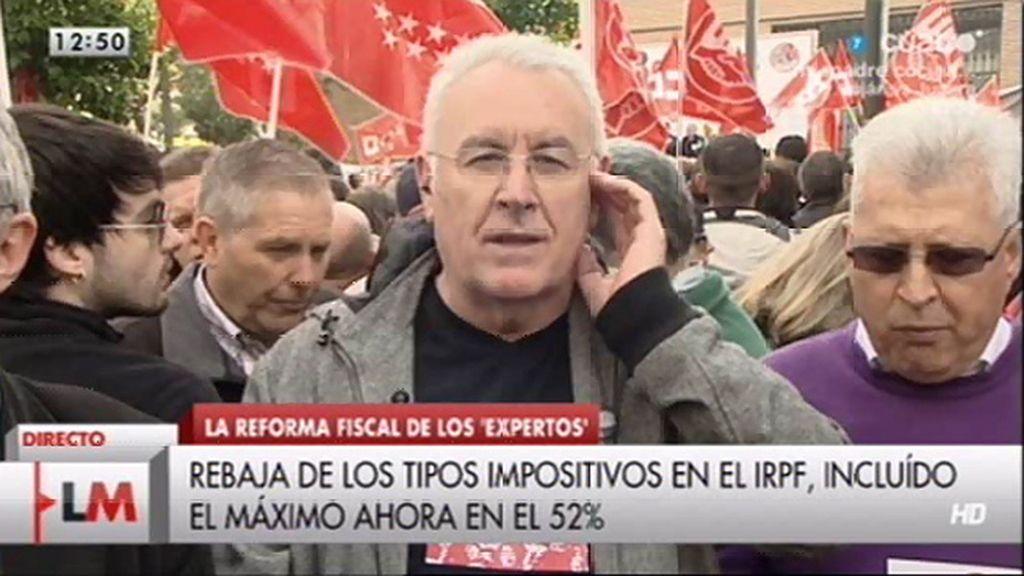 """Cayo Lara: """"Va a aumentar la desigualdad social por la vía de los impuestos"""""""