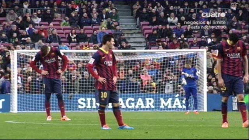 El Barça, cabizbajo ante el Valencia