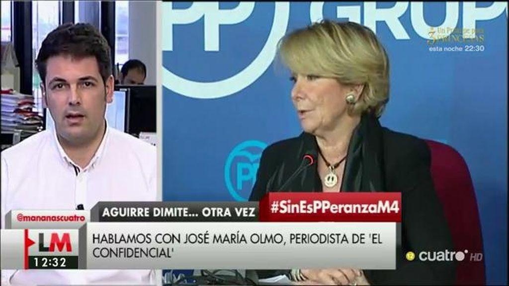"""J.M. Olmo: """"Parece difícil que Aguirre no conociera todo lo que se está investigando"""""""