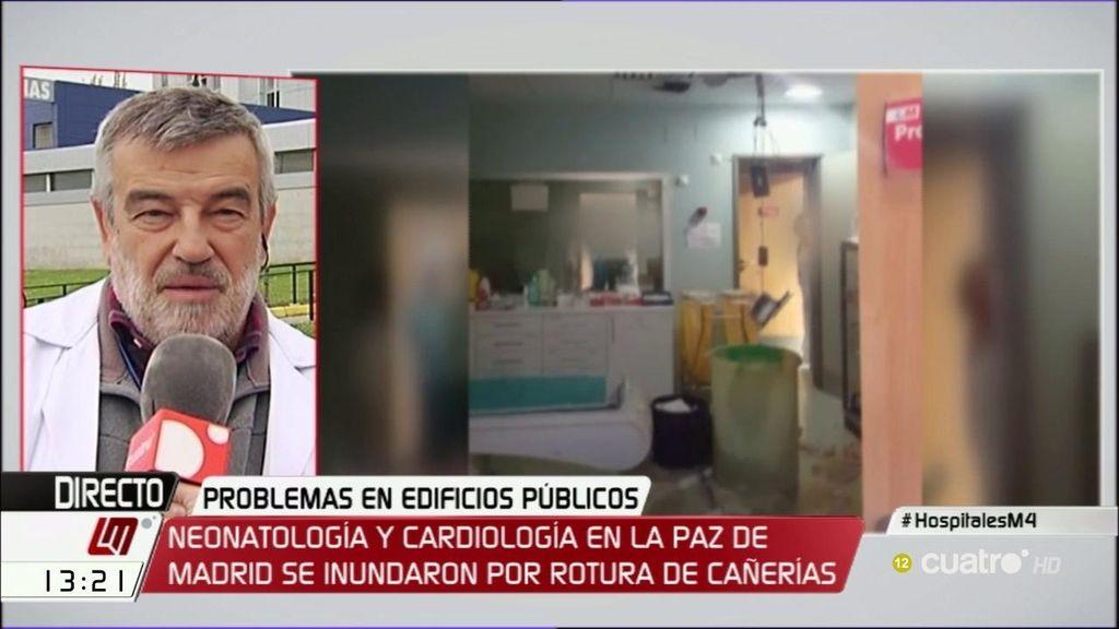 """Luis Fdez. Pineda, tras el derrumbe del techo de una sala del Hospital Ramón y Cajal: """"Es consecuencia de los recortes"""""""