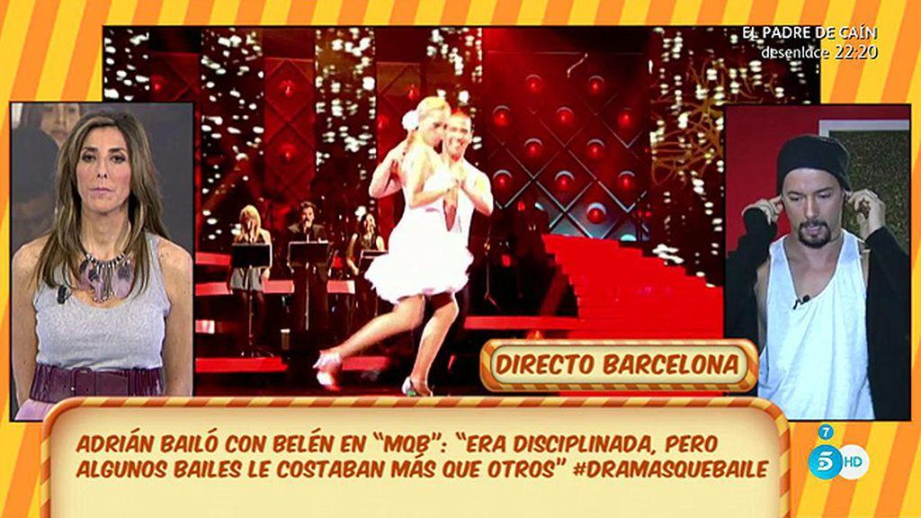 """Adrián Rodríguez, bailarín de '¡MQB!': """"Belén Esteban se lo tomaba en serio"""""""