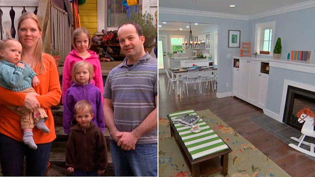 Un matrimonio, cuatro hijos, un sótano abandonado y setenta metros cuadrados