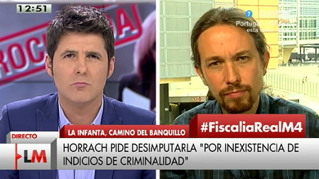 """Pablo Iglesias: """"Da la impresión de que hay una justicia para ricos y otra para los demás"""""""