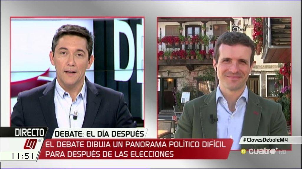 La entrevista de Pablo Casado, a la carta