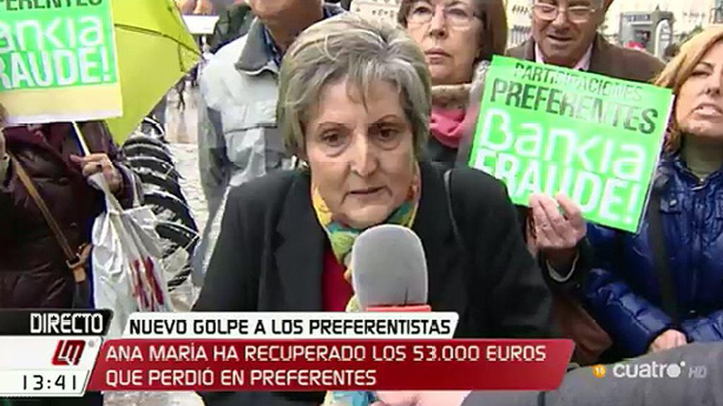 """Ana María, 'preferentista': """"¿Qué pasa que no hacen caso ni a los jueces?"""""""