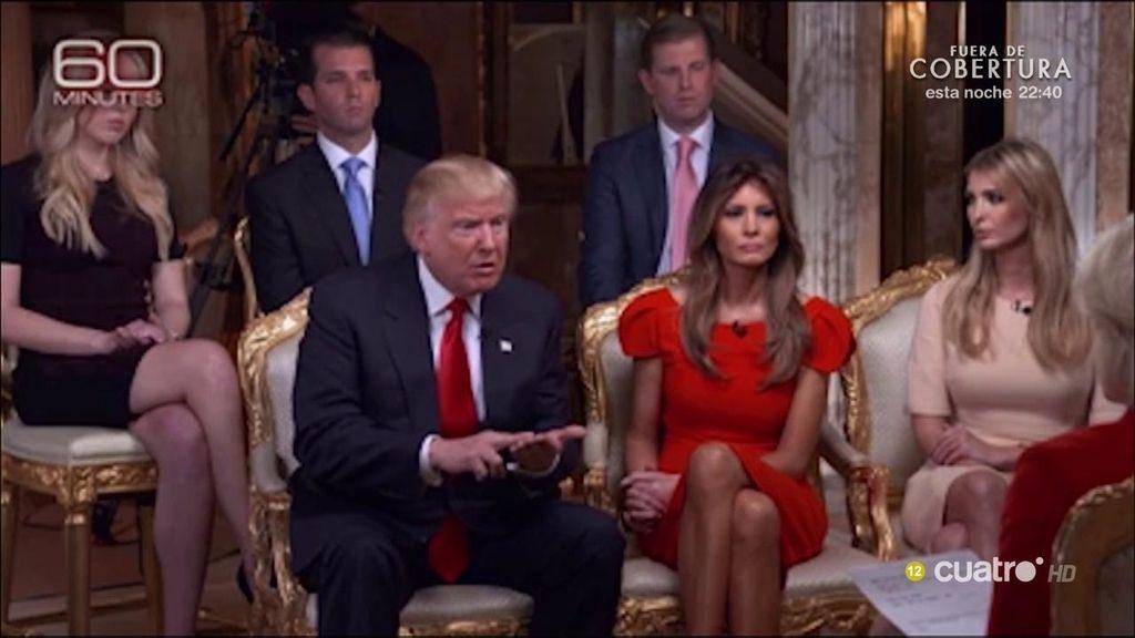 Todos los 'selfidetalles' de la primera entrevista de Trump como Presidente