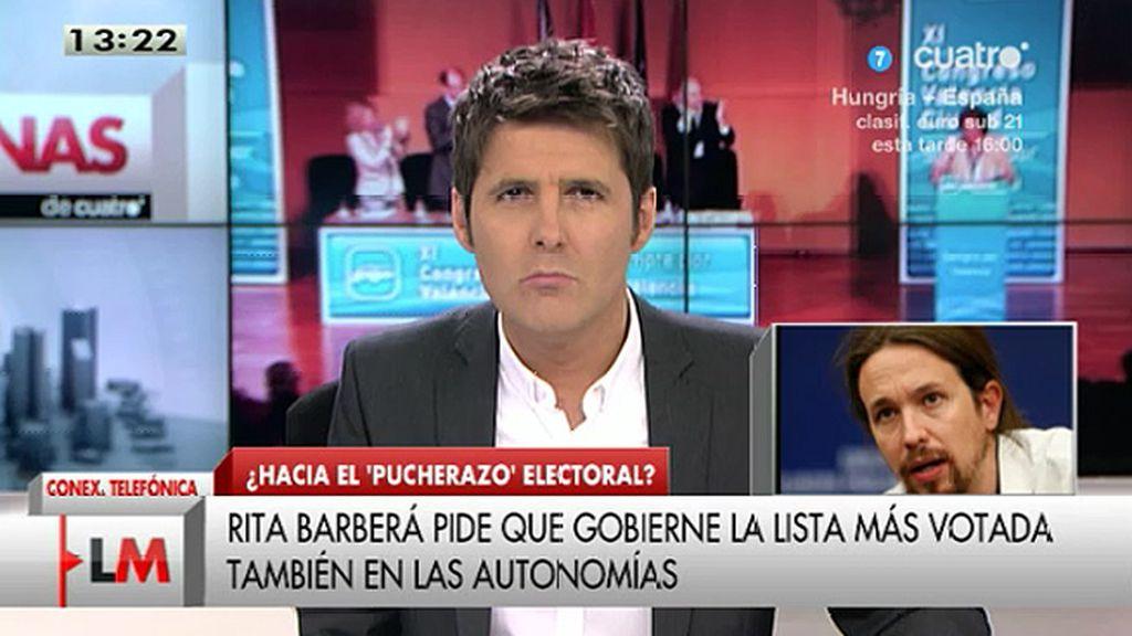 """Pablo Iglesias: """"Lo que está haciendo el PP es cambiar las reglas en el último minuto"""""""