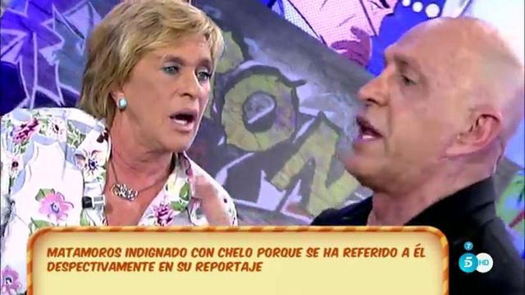 El 'pique' entre Kiko Matamoros y Chelo García-Cortés por su 'Diario Ché'