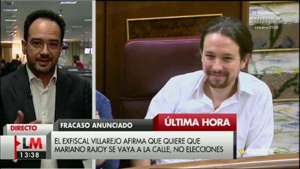 """A. Hernando, tras la ruptura de Villarejo con Podemos: """"Expresa lo que millones de personas, que desean que haya un cambio"""""""