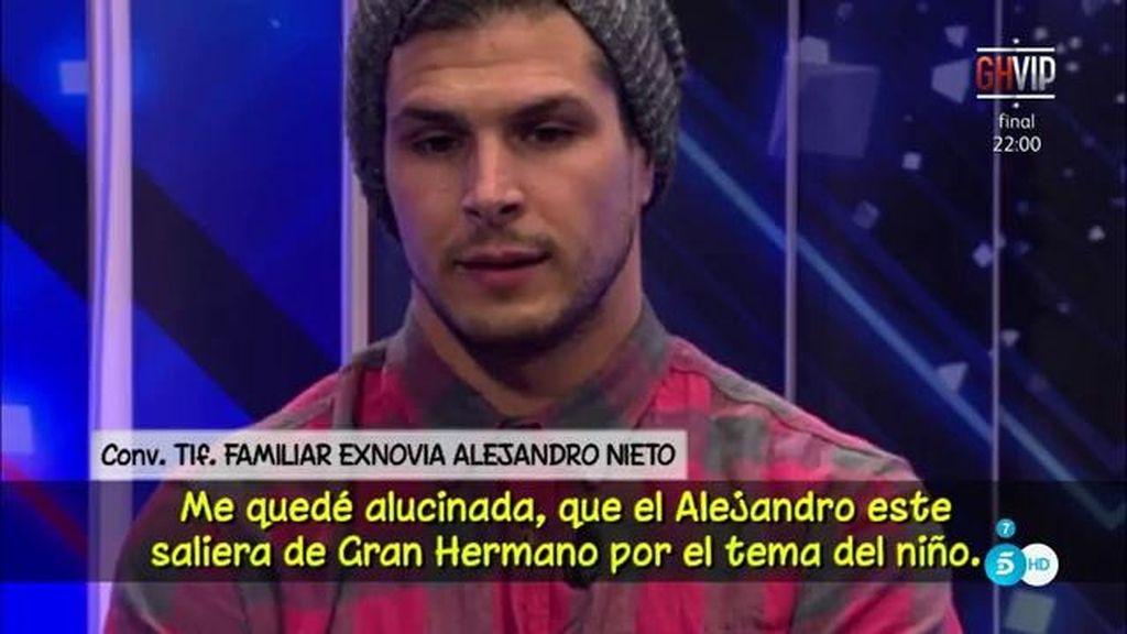 """Un familiar de la exnovia de Alejandro Nieto (GH VIP): """"Es injusto que vaya a dar pena como buen padre"""""""