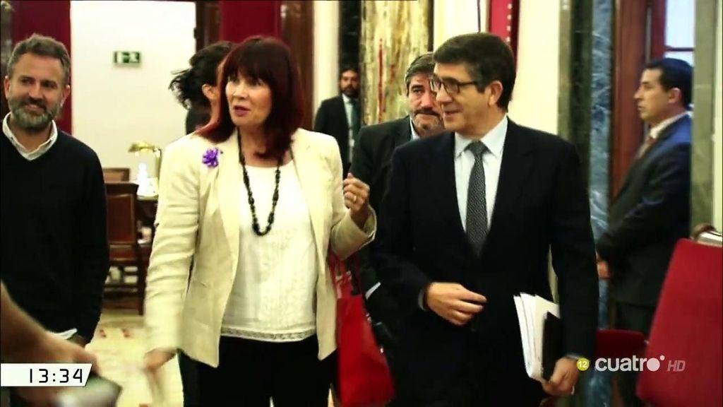 Patxi López y Micaela Navarro renuncian a la indemnización por fin de legislatura