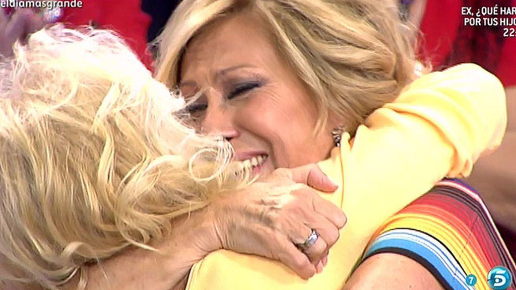 Rosa Benito vuelve a ver a su amiga Pilar