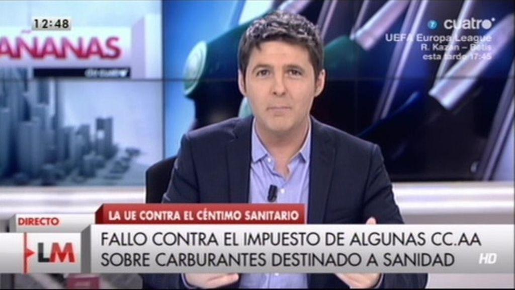"""Jesús Cintora: """"A Gallardón se le conoce en Madrid como Ruíz-Vampirón"""""""