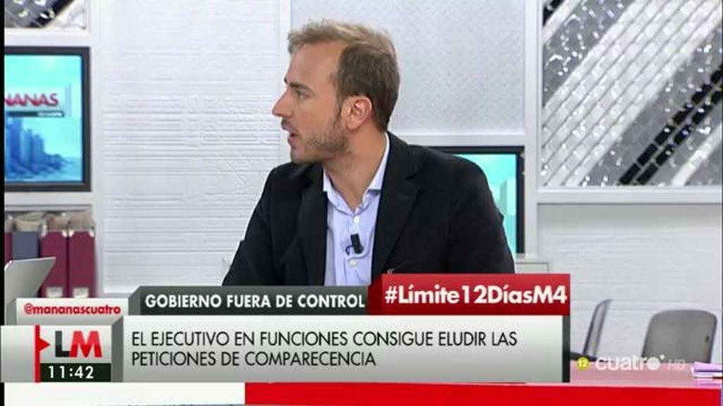 """J. Dorado: """"Ningún gobierno se ha sometido al control legislativo estando en funciones"""""""