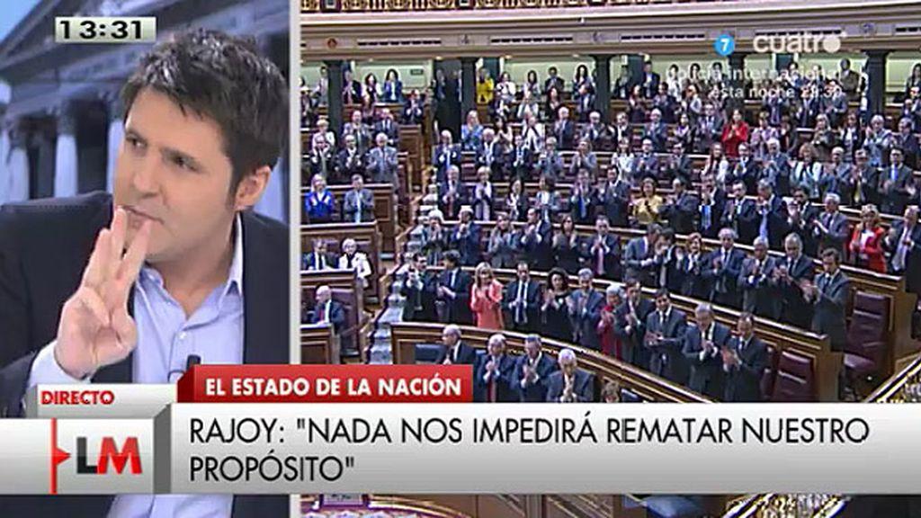 """Jesús Cintora, sobre Rajoy: """"No se puede olvidar de casi 400.000 desempleados"""""""