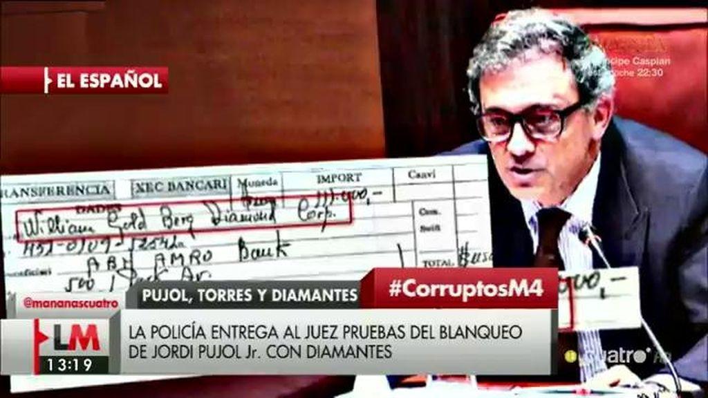 El clan Pujol habría blanqueado medio millón de euros en diamantes, según 'El Español'