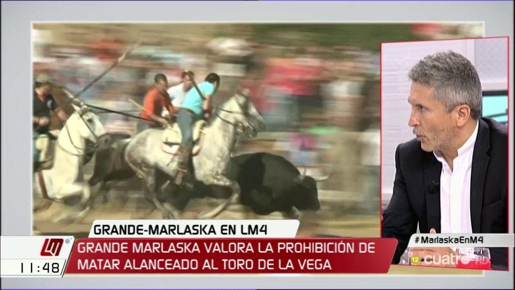 """Grande – Marlaska: """"Me gustaría que tuviéramos un país donde la gente se divierta sin jugar con el dolor de los animales"""""""