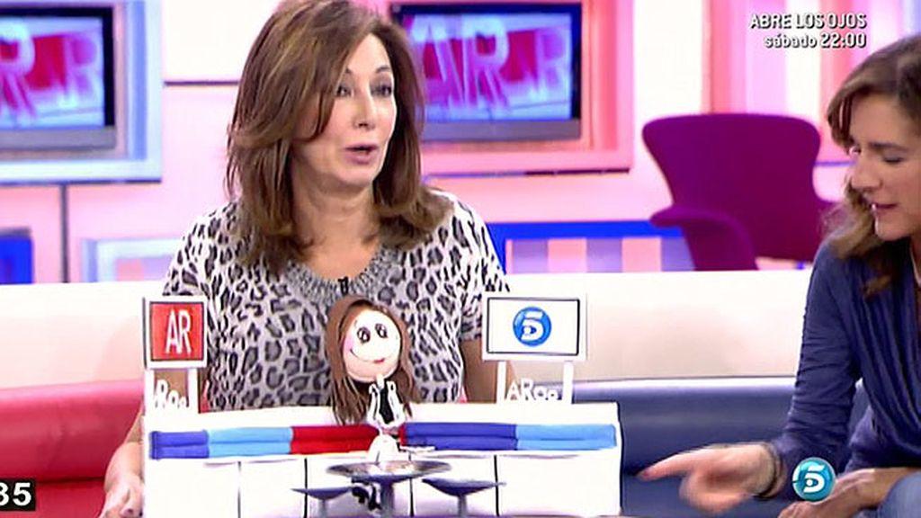 Ana Rosa, encantada con su 'mini-yo'