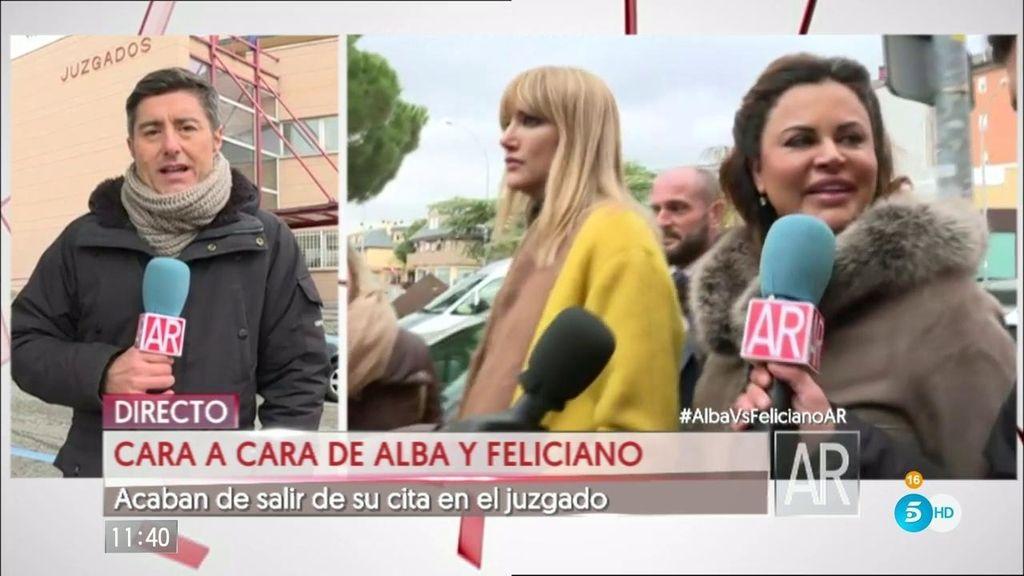 Alba Carrillo y Feliciano se ven las caras por primera vez en el juzgado