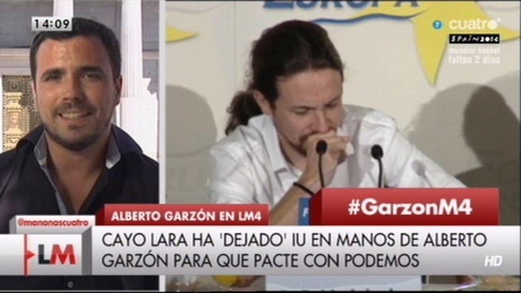 """Alberto Garzón pide un pacto IU-Podemos: """"La suma puede llegar a multiplicar"""""""