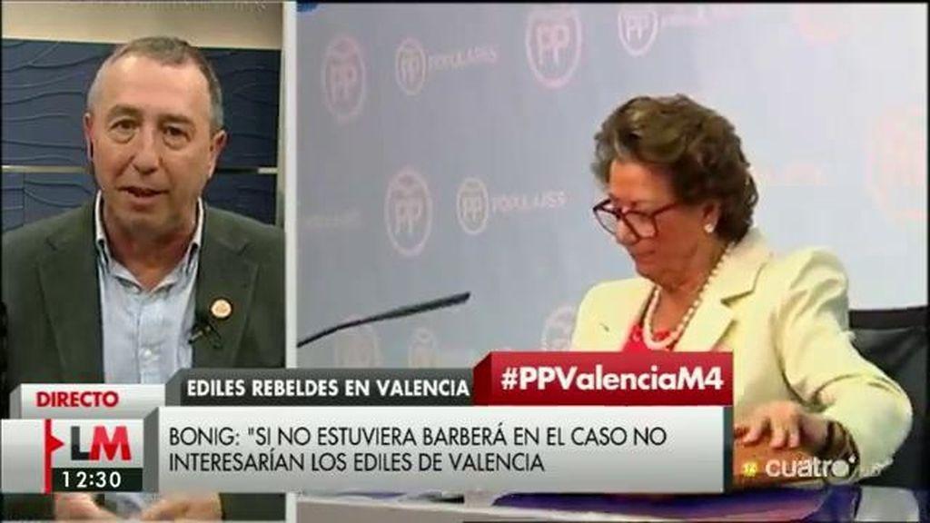 """Joan Baldoví: """"A mi modo de entender, Rajoy protege a Barberá porque sabe mucho que puede comprometer al PP"""""""
