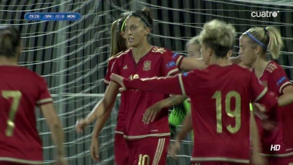 ¡Qué jugada! Apura la línea de fondo y Alexia Putellas empuja a placer (12-0)