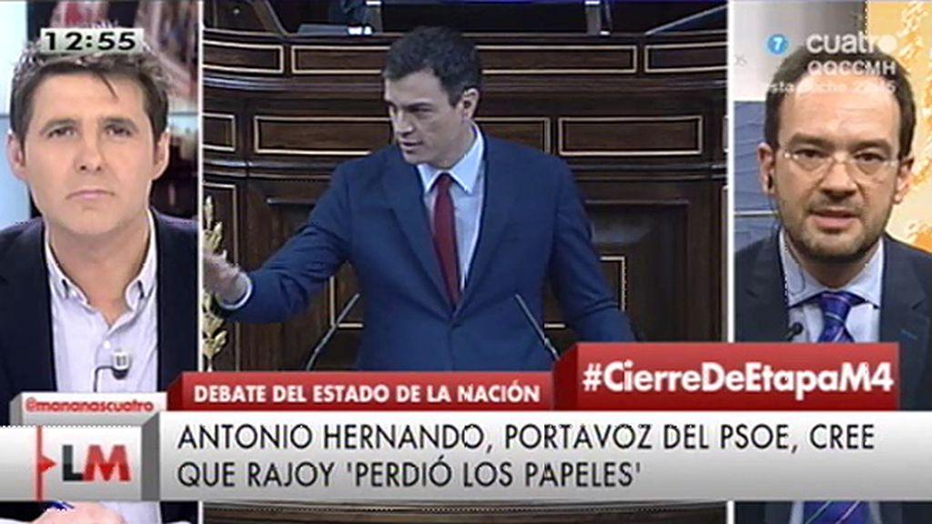 """Antonio Hernando: """"Rajoy ha suspendido primero de democracia"""""""