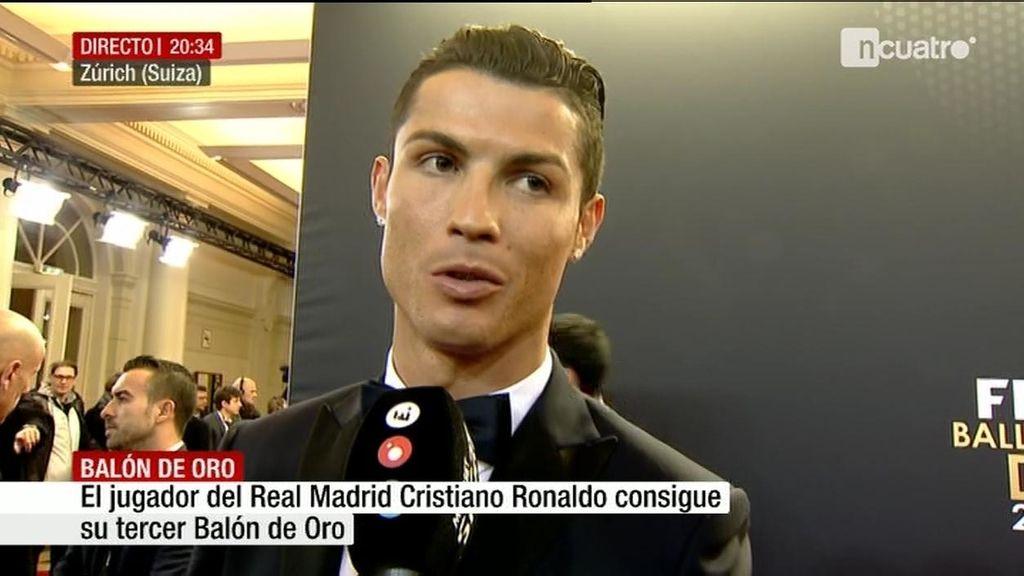 """Cristiano y el '¡Uuuh!' tras ganar su tercer Balón de Oro: """"Es un grito del equipo"""""""
