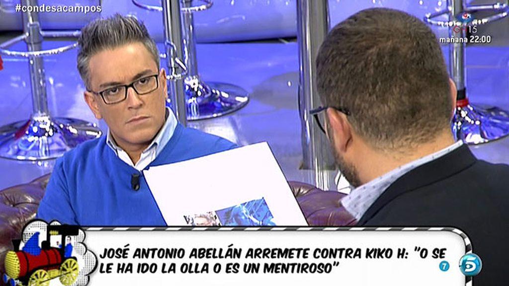 """J. A. Abellán: """"No sé si a Kiko Hernández se le ha ido la olla o es un mentiroso"""""""
