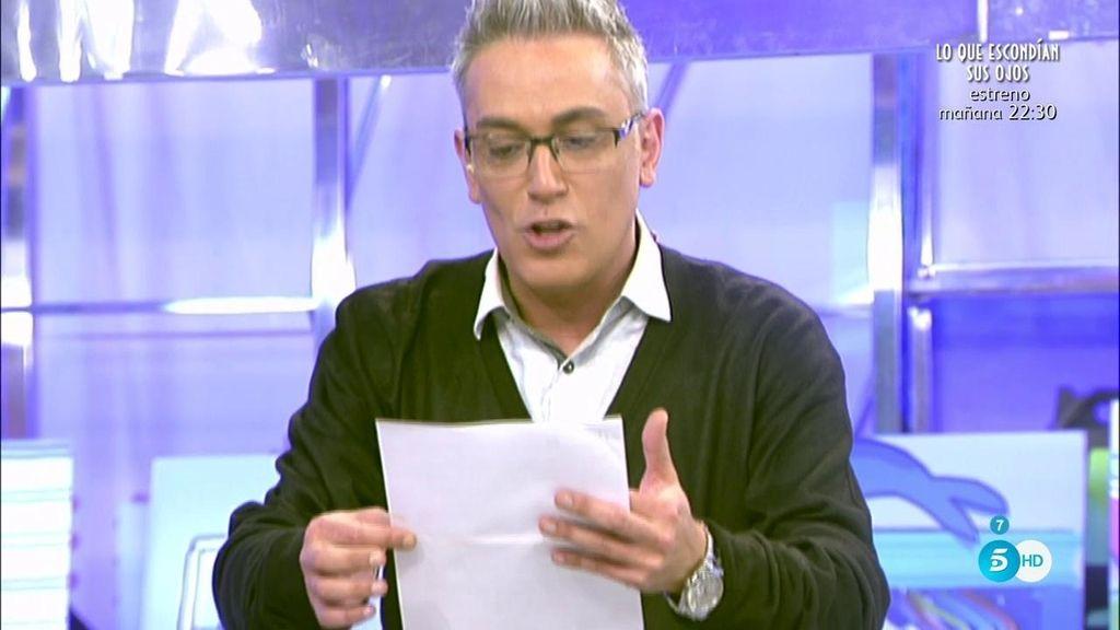 La casa de Sanchís tiene una anotación de embargo preventivo, según Kiko Hernández