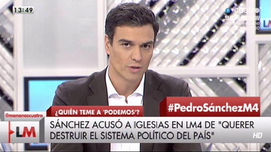 """Sánchez: """"A mí no me va a temblar la mano en echar a ningún corrupto del partido"""""""