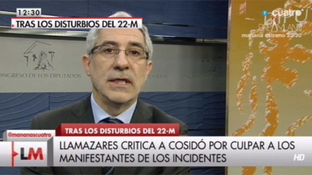 """Gaspar Llamazares: """"Están intentando distorsionar la imagen del 22-M"""""""