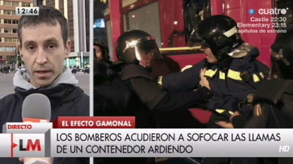 """R. Gallego: """"Lo que es inconcebible es que un bombero en acto de servicio sea retirado"""""""