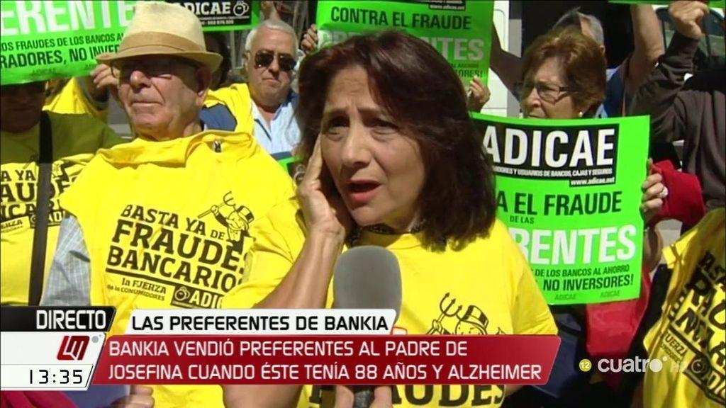 Josefina lucha por la estafa a su padre de 40.000 euros en preferentes