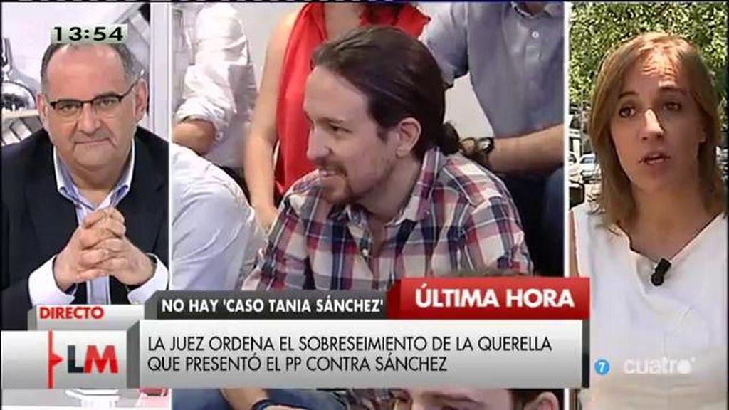 """Tania Sánchez: """"El cambio lo protagonizará mucha gente y quién le ponga cara lo decidirá también la gente"""""""