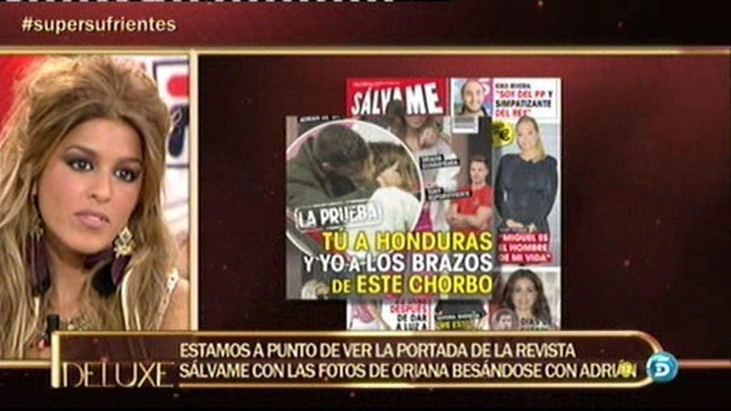¡Las fotos del beso de Oriana y Adrián de GH 14 en la revista Sálvame!