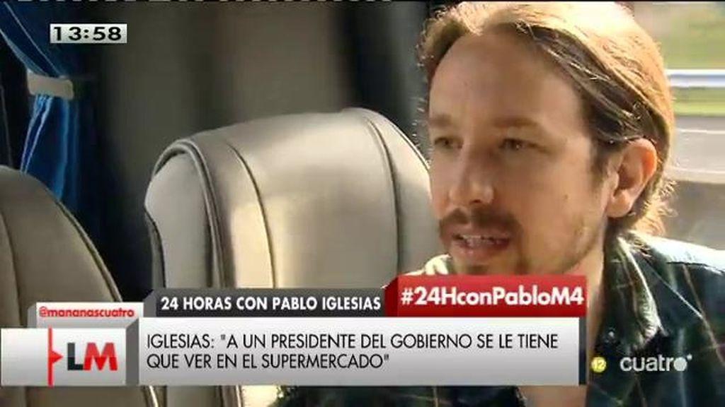 Pablo Iglesias preferiría seguir viviendo en su casa si fuera presidente