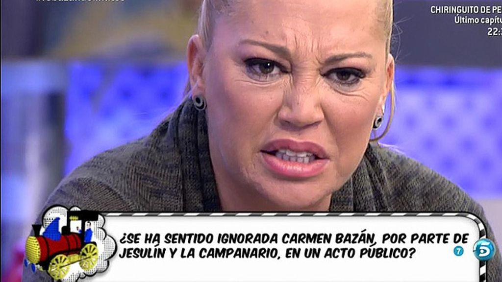 """Belén Esteban: """"¡Qué ridícula eres Beatriz Trapote! ¿No puede hablar Carmen?"""""""