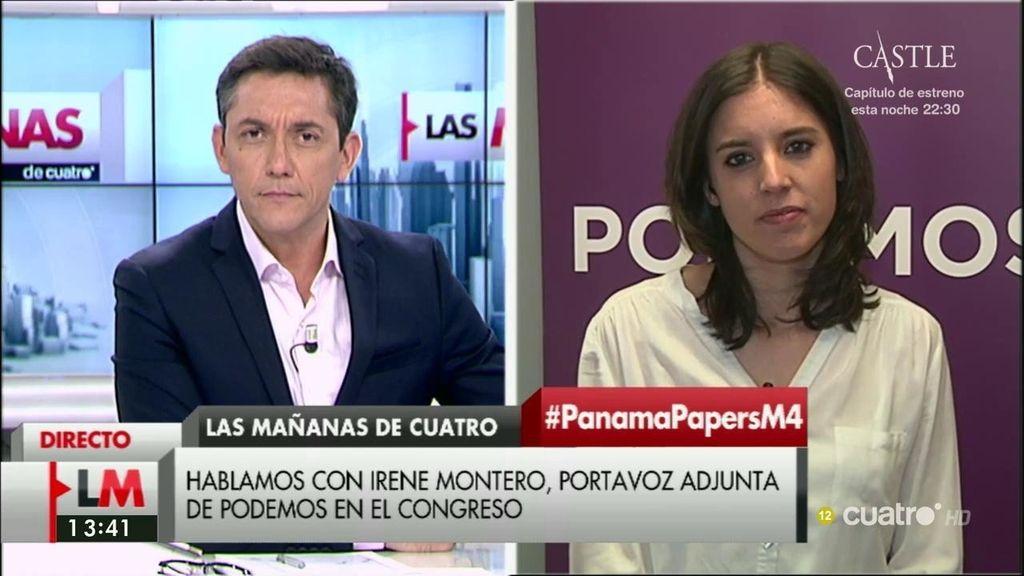 """Montero, sobre Soria y los 'Papeles de Panamá': """"Tendrá que aclarar por qué aparece si no tiene responsabilidad"""""""