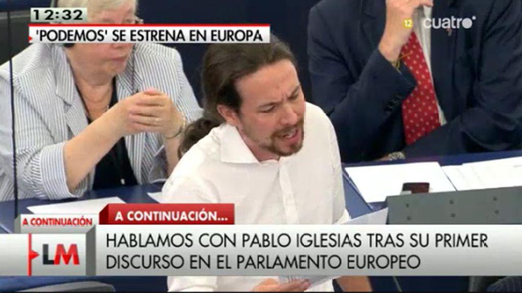 Pablo Iglesias recibe su primera bronca por pasarse del tiempo establecido del discurso