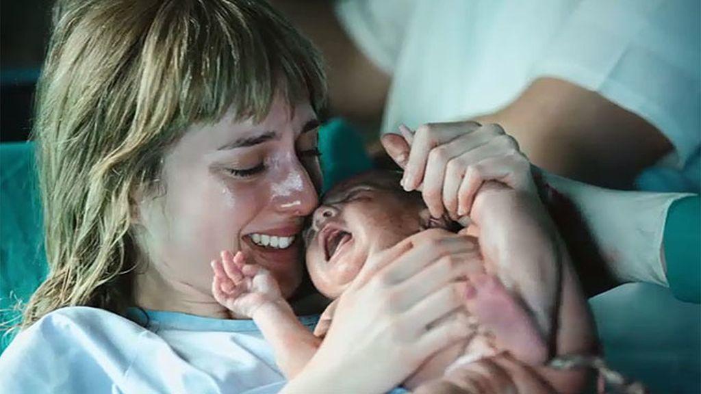 Virginia da a luz a un bebé